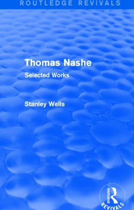 Thomas Nashe (Routledge Revivals): Selected Works, 1st Edition (Paperback) book cover