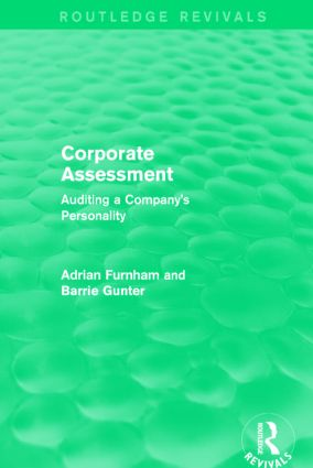 Corporate Assessment (Routledge Revivals): Auditing a Company book cover
