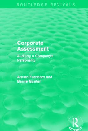 Corporate Assessment (Routledge Revivals)