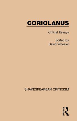 Coriolanus: Critical Essays book cover