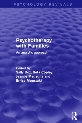 Psychotherapy with Families: An Analytic Approach book cover