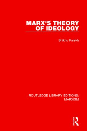 Marx's Theory of Ideology (RLE Marxism) book cover