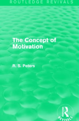 The Concept of Motivation: 1st Edition (Hardback) book cover