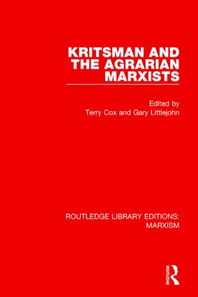 Kritsman and the Agrarian Marxists (RLE Marxism) book cover