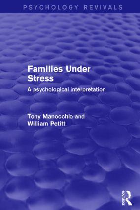 Families Under Stress: A Psychological Interpretation book cover