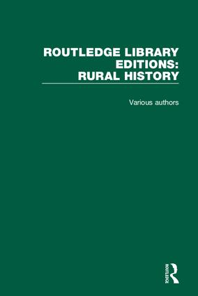 Routledge Library Editions: Rural History book cover