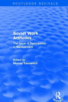 Revival: Soviet Work Attitudes (1979): 1st Edition (Paperback) book cover