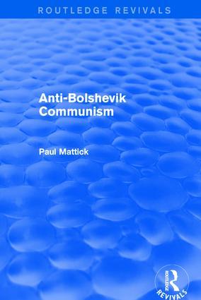 Revival: Anti-Bolshevik Communism (1978): 1st Edition (Paperback) book cover