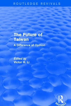 The Future of Taiwan: 1st Edition (Hardback) book cover