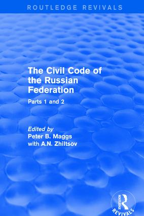 The Civil Code of the Russian Federation: Parts 1 and 2, 1st Edition (Hardback) book cover