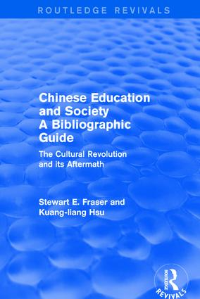 Chinese Education and Society A Bibliographic Guide
