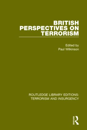 British Perspectives on Terrorism (RLE: Terrorism & Insurgency) book cover