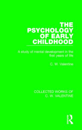 The Psychology of Early Childhood: A Study of Mental Development in the First Years of Life, 1st Edition (Paperback) book cover