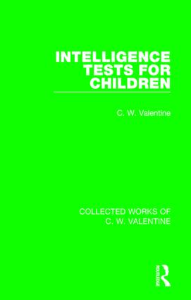 Intelligence Tests for Children: 1st Edition (Paperback) book cover