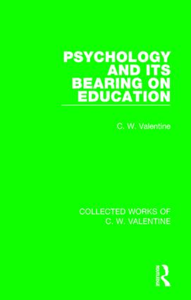 Psychology and its Bearing on Education book cover