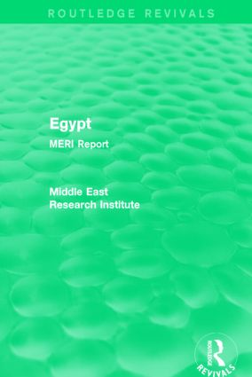 Egypt (Routledge Revival): MERI Report, 1st Edition (Hardback) book cover
