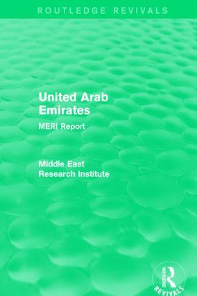 United Arab Emirates (Routledge Revival): MERI Report book cover