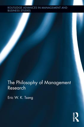 The Philosophy of Management Research: 1st Edition (Hardback) book cover