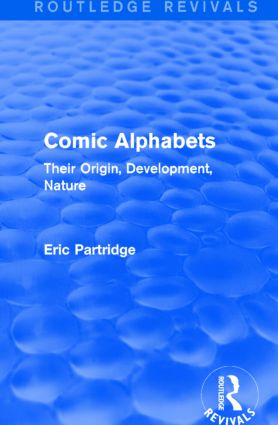 Comic Alphabets (Routledge Revivals): Their Origin, Development, Nature book cover