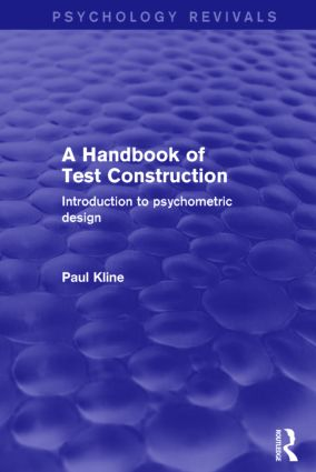 A Handbook of Test Construction (Psychology Revivals): Introduction
