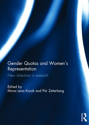 Gender Quotas and Women's Representation: New Directions in Research (Hardback) book cover
