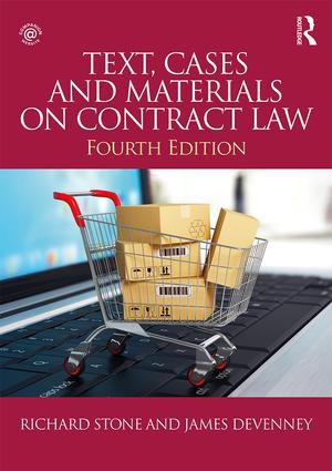 Text, Cases and Materials on Contract Law book cover
