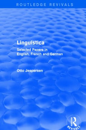 Linguistica: Selected Papers in English, French and German book cover