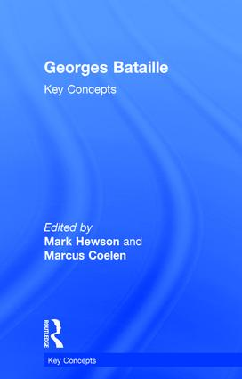 Georges Bataille: Key Concepts, 1st Edition (Hardback) book cover