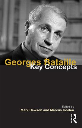 Georges Bataille: Key Concepts book cover