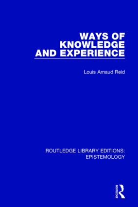 Ways of Knowledge and Experience book cover
