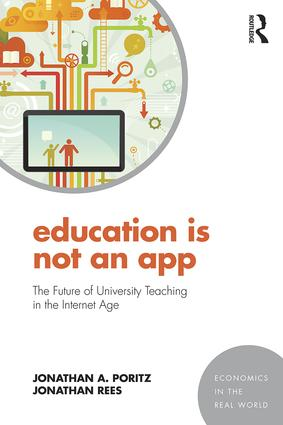 Education Is Not an App: The future of university teaching in the Internet age (Paperback) book cover