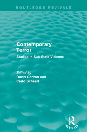 Contemporary Terror: Studies in Sub-State Violence book cover