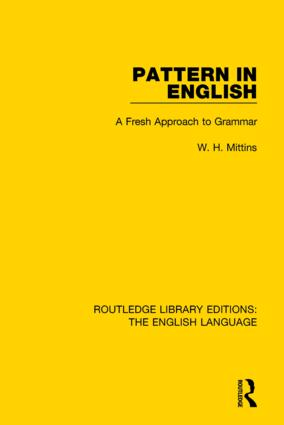 Pattern in English (RLE: English Language): A Fresh Approach to Grammar book cover