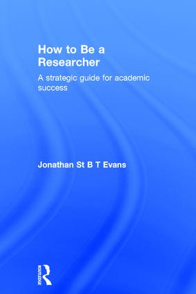 How to Be a Researcher: A strategic guide for academic success, 2nd Edition (Hardback) book cover