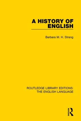 A History of English (RLE: English Language) book cover