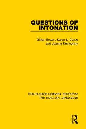 Questions of Intonation book cover