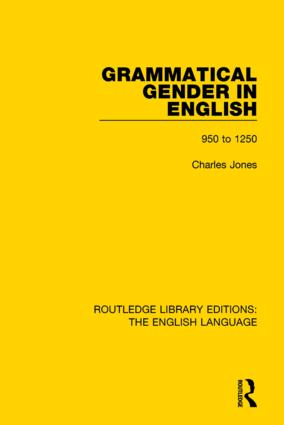 Grammatical Gender in English: 950 to 1250 book cover