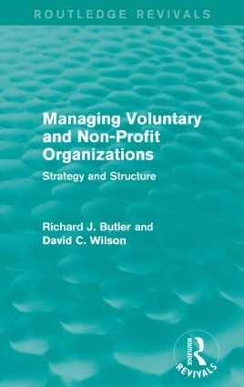 Managing Voluntary and Non-Profit Organizations: Strategy and Structure book cover