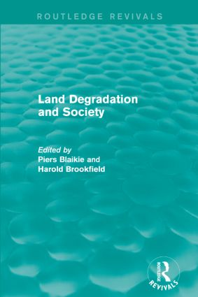 Land Degradation and Society: 1st Edition (Paperback) book cover