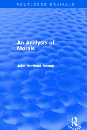 An Analysis of Morals: 1st Edition (e-Book) book cover