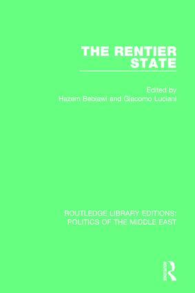 The Rentier State (Paperback) book cover