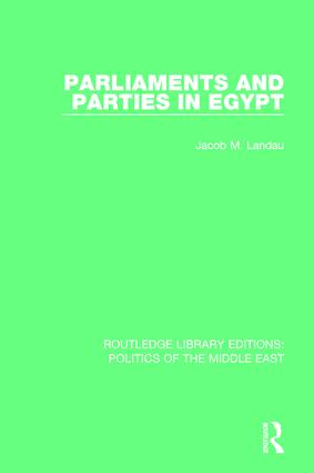 Parliaments and Parties in Egypt book cover