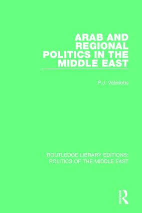 Arab and Regional Politics in the Middle East book cover