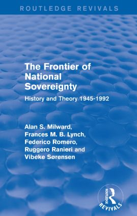 The Frontier of National Sovereignty: History and Theory 1945-1992, 1st Edition (Paperback) book cover