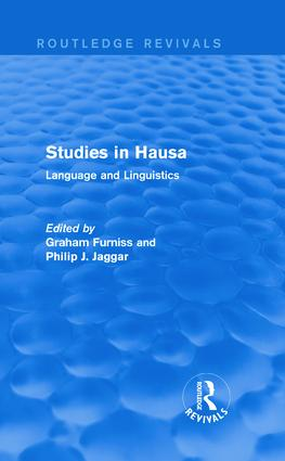 Studies in Hausa: Language and Linguistics, 1st Edition (Hardback) book cover