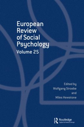 European Review of Social Psychology: Volume 25: 1st Edition (Hardback) book cover