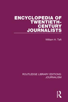Encyclopedia of Twentieth Century Journalists book cover