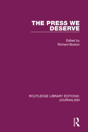 The Press We Deserve book cover