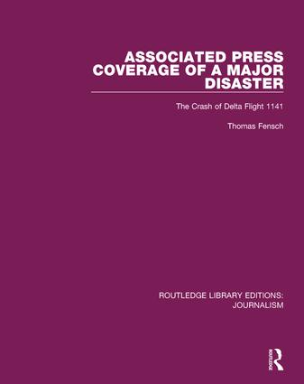 Associated Press Coverage of a Major Disaster: The Crash of Delta Flight 1141 book cover
