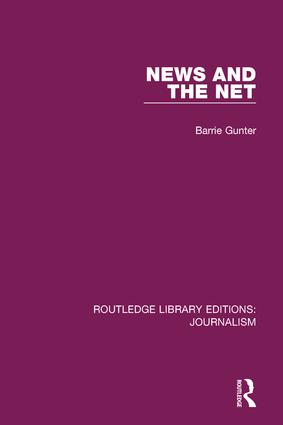 News and the Net: 1st Edition (Paperback) book cover